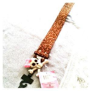pink cookie Accessories - SALE ! Cheetah BELT with skull buckle