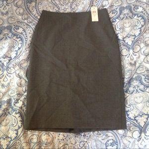 Ann Taylor Gray Pencil Skirt