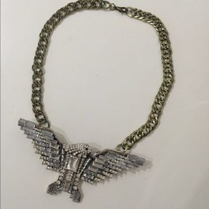 Bling bling silver diamond eagle chain gold