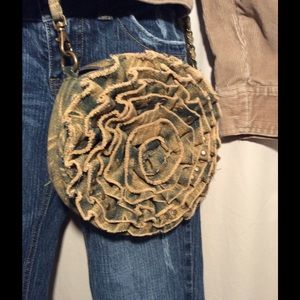 Melie Bianco Handbags - Denim Flower Purse with Chain Strap Melie Bianco