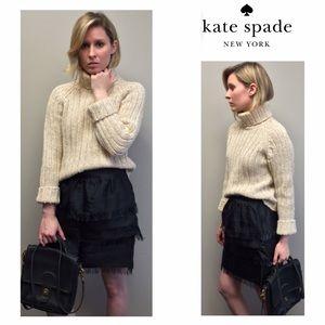 Kate Spade fringe tiered skirt