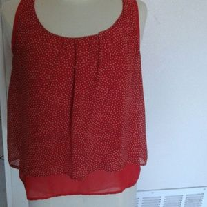 Red polka-dot top. Size S.