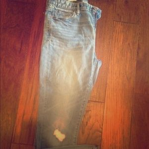 Gap distressed mid-rise jeans
