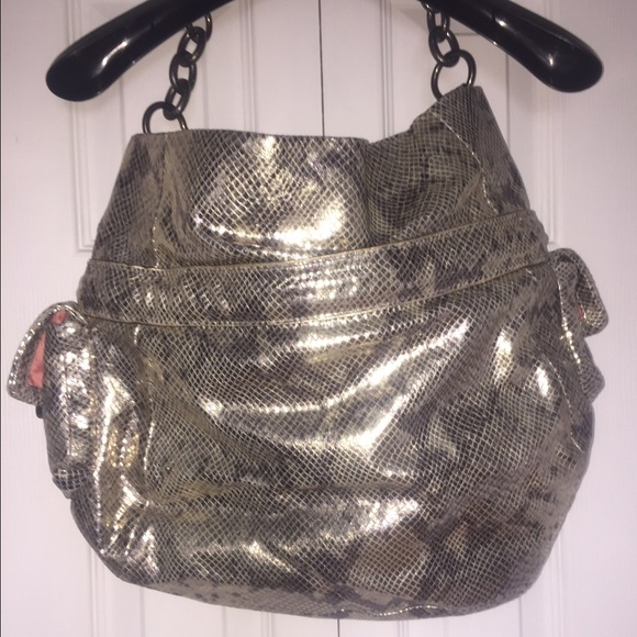 81 Off Coach Handbags Coach Faux Snake Skin Purse From