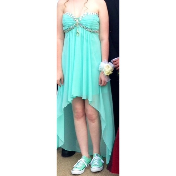 45 off deb dresses amp skirts mint green high low prom