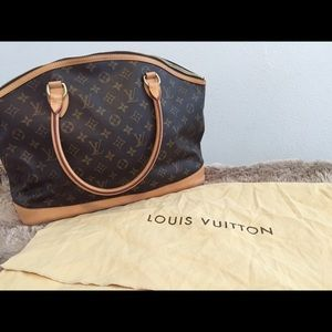 Alma hand monogram tote. Authentic Louis Vuitton.