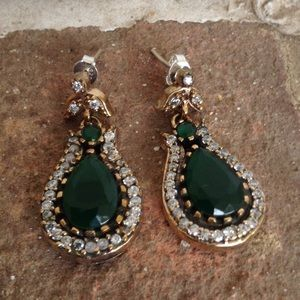 Jewelry - Handmade Emerald Earrings.