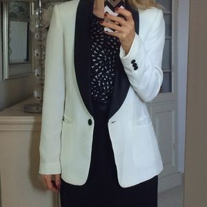 Forever 21 Jackets & Blazers - White Tuxedo Blazer with Black Trim Small