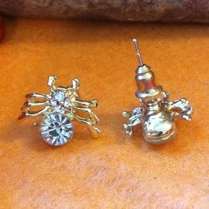 Jewelry - ONLY 2 LEFT! Rhinestone Spider Earrings