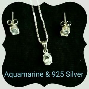 Jewelry - Aquamarine set in 925 Silver