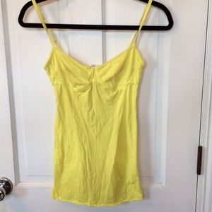 Wilfred for Aritzia yellow bustier top