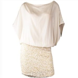 Parker Sequin and Silk Dress
