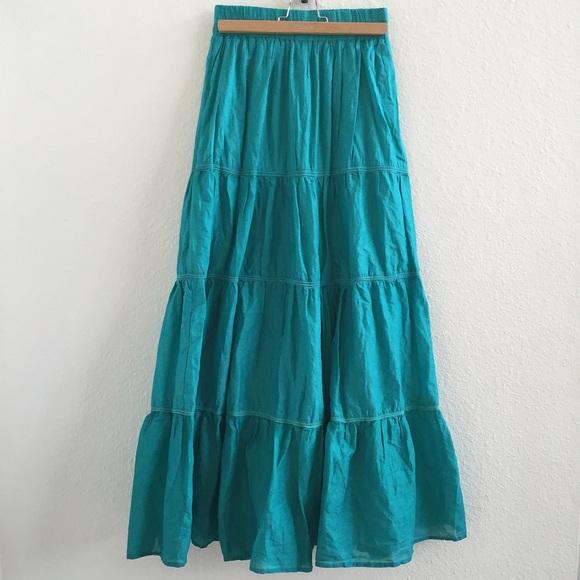 zara zara cotton maxi skirt from pia s closet on poshmark