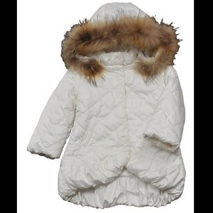Ermanno Scervino Other - Ermanno Scervino puffy coat w/ fur girl 2T