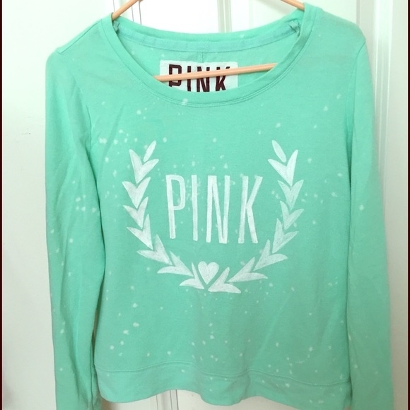 53% off PINK Victoria's Secret Sweaters - Mint green vs pink ...
