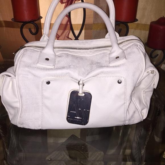 20 off armani exchange handbags armani exchange white