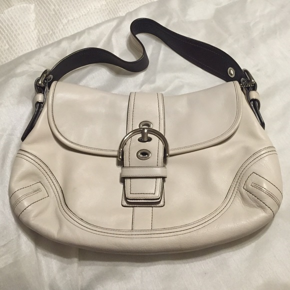 224c228d13 Coach Bags | White Cowhide Leather Bag | Poshmark