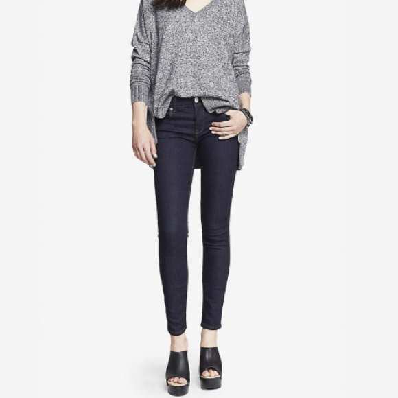 79% off Express Denim - EXPRESS Dark Stella Skinny Jeans from ...