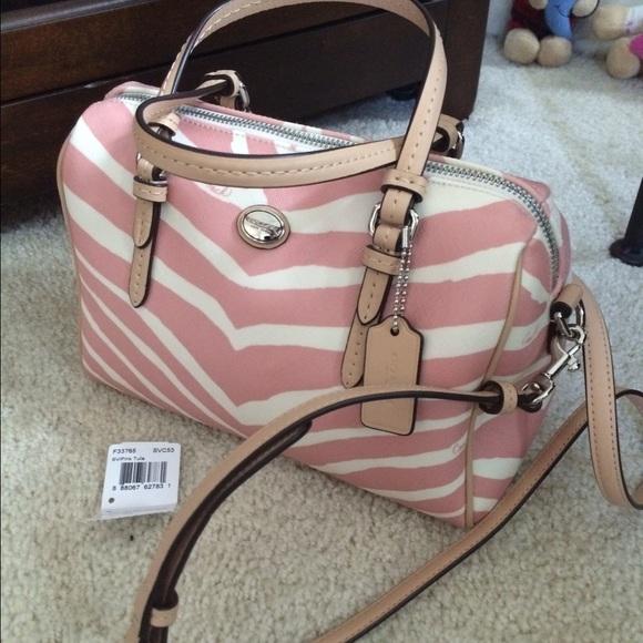 Coach Handbags - Authentic coach animal print Bennett mini satchel