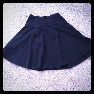 Black circle skater skirt