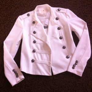 Forever 21 Jackets & Blazers - NEW!! Forever 21 Off White Military Blazer