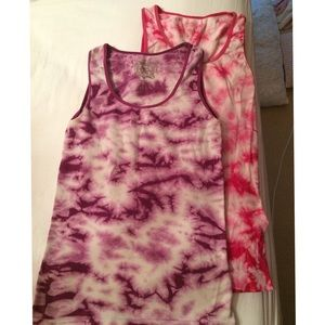 Sugarlips Tops - 2 cute tie-dye sugarlip tanks