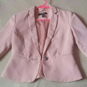 Forever 21 baby pink blazer size S