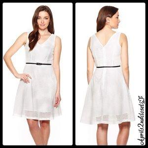 Sharagano Dresses & Skirts - ❗️1-HOUR SALE❗️A Line Dress White Eyelet Lace