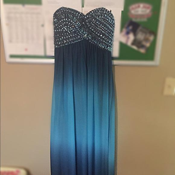 jcpenney Dresses | Ombr Prom Dress | Poshmark