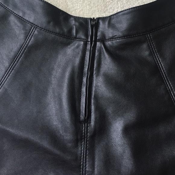 67 h m dresses skirts vegan leather skater skirt