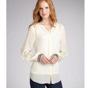 Elizabeth and James beaded silk chantal blouse