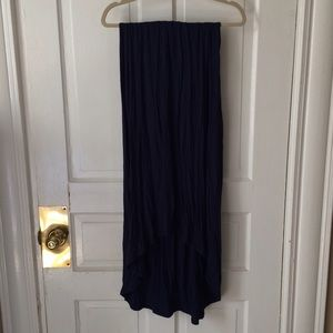 Charlotte Russe Dresses & Skirts - High-lo navy maxi skirt