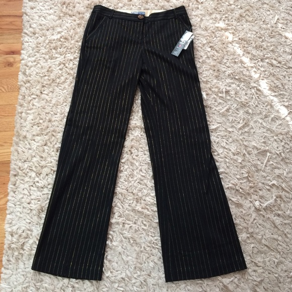 Star City Pants - New with Tags! Festive Gold Pinstripe Trousers!