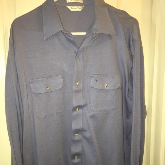 Dior christian dior cotton button down shirt from brandi for Christian dior button up shirt
