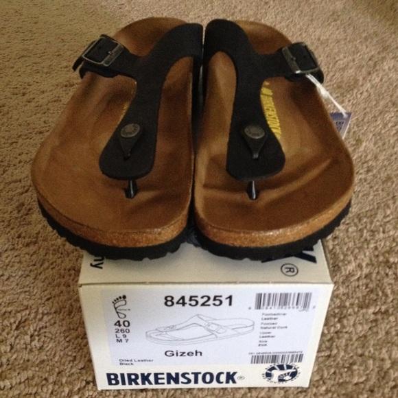 birkenstock gizeh leather black