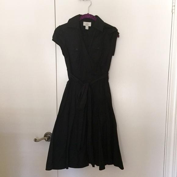Ann Taylor Dresses Loft Petite Black Shirt Dress Poshmark