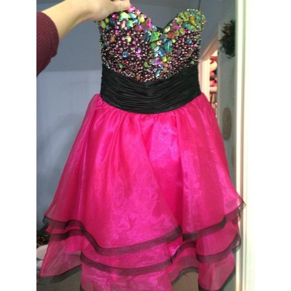 Short Pink Dress with Gems