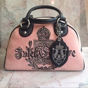 Juicy Couture Light Pink Velour Bowler Purse