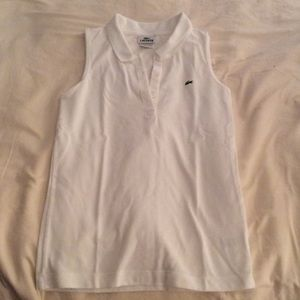 Lacoste sleeveless slim fit stretch pique polo