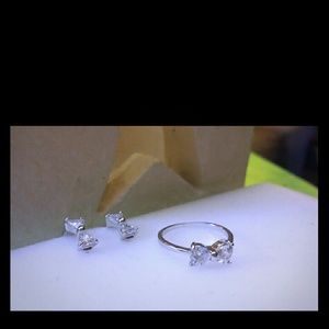 Jewelry - Sterling Silver Set / Bow Tie Ring and Earings