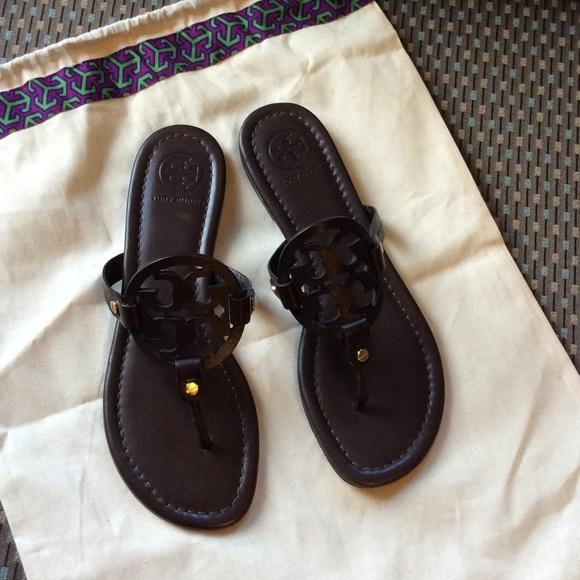 4107a4215bc Tory burch miller sandal sz9 dark brown new. M 55e8d5e8a72265fd12001987