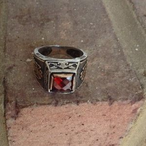 Jewelry - Handcrafted Fire Ganet solid 925