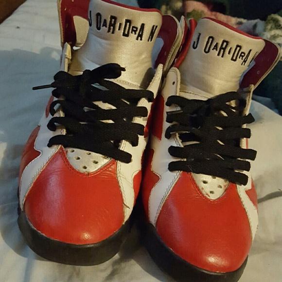 Jordan Shoes   Custom Jordan Carmine 7
