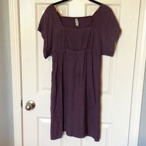 Anthropologie Plum day dress