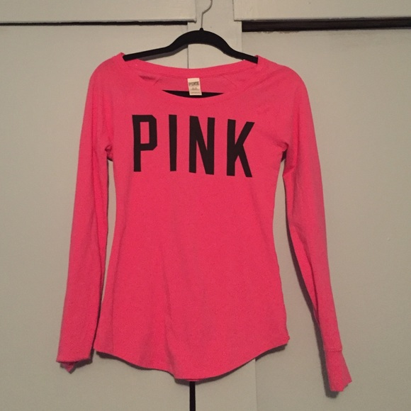 PINK Victoria's Secret - Pink long sleeve VS Pink shirt from ...