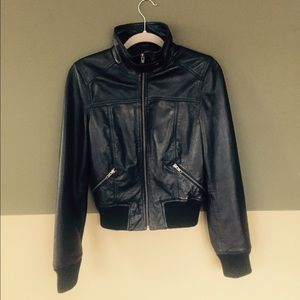 "Leather jacket by ""Express"""