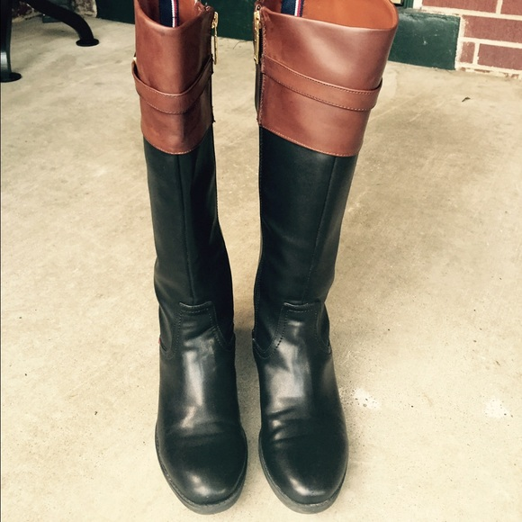 Tommy Hilfiger Wide Calf Riding Boots