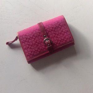 {Coach} Pink Monogram Wallet