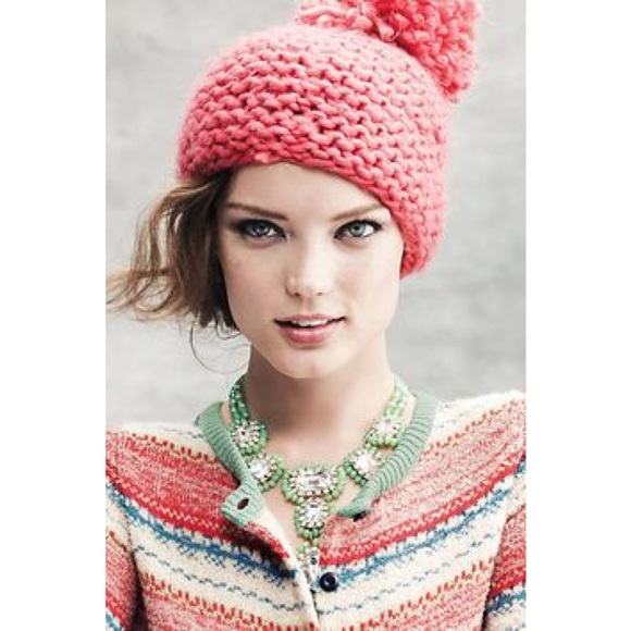 ae5eccaf941c9a Anthropologie Accessories - 🎉HP 🎉 Anthropologie Knit Giant Pom Pom Beanie