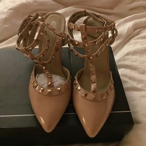 Shoes - Valentino style Rock stud 3 inch heels shoes.